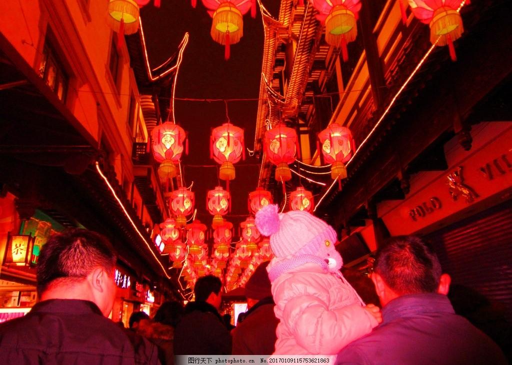灯笼 古建 新年 春节 春节布置 春节夜景 素材 摄影 建筑园林 建筑