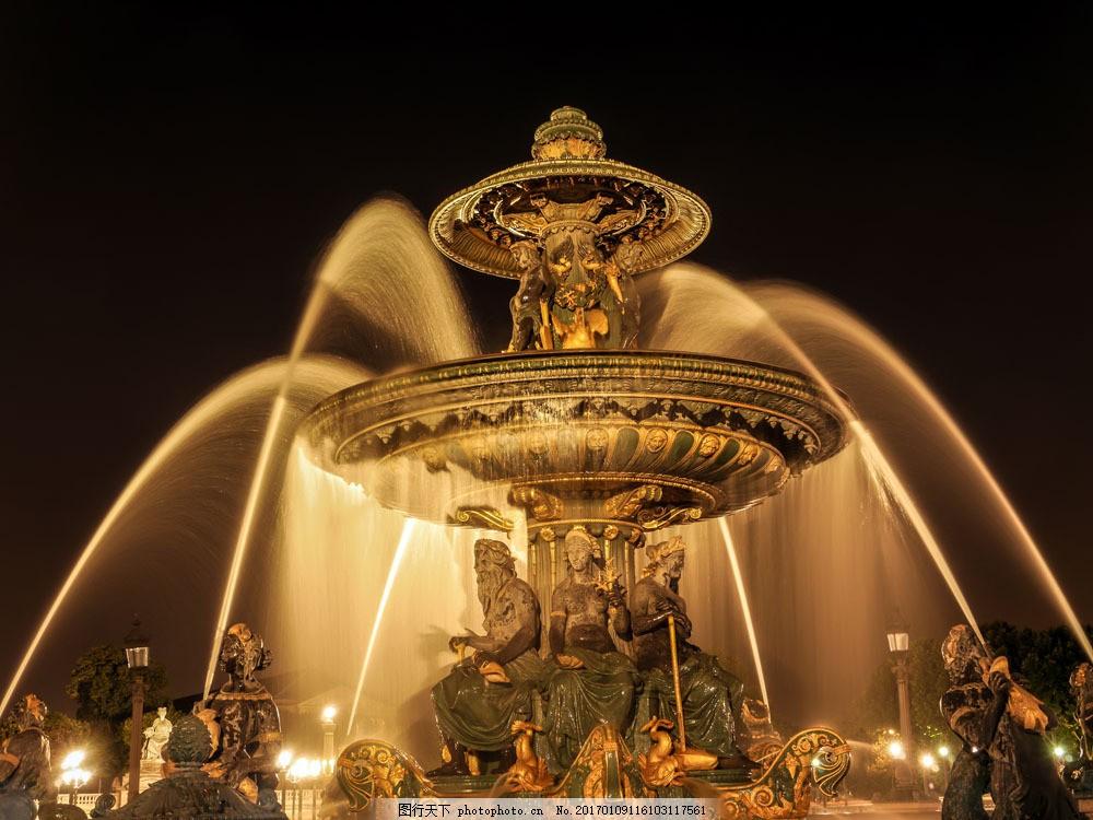 欧式喷泉图片