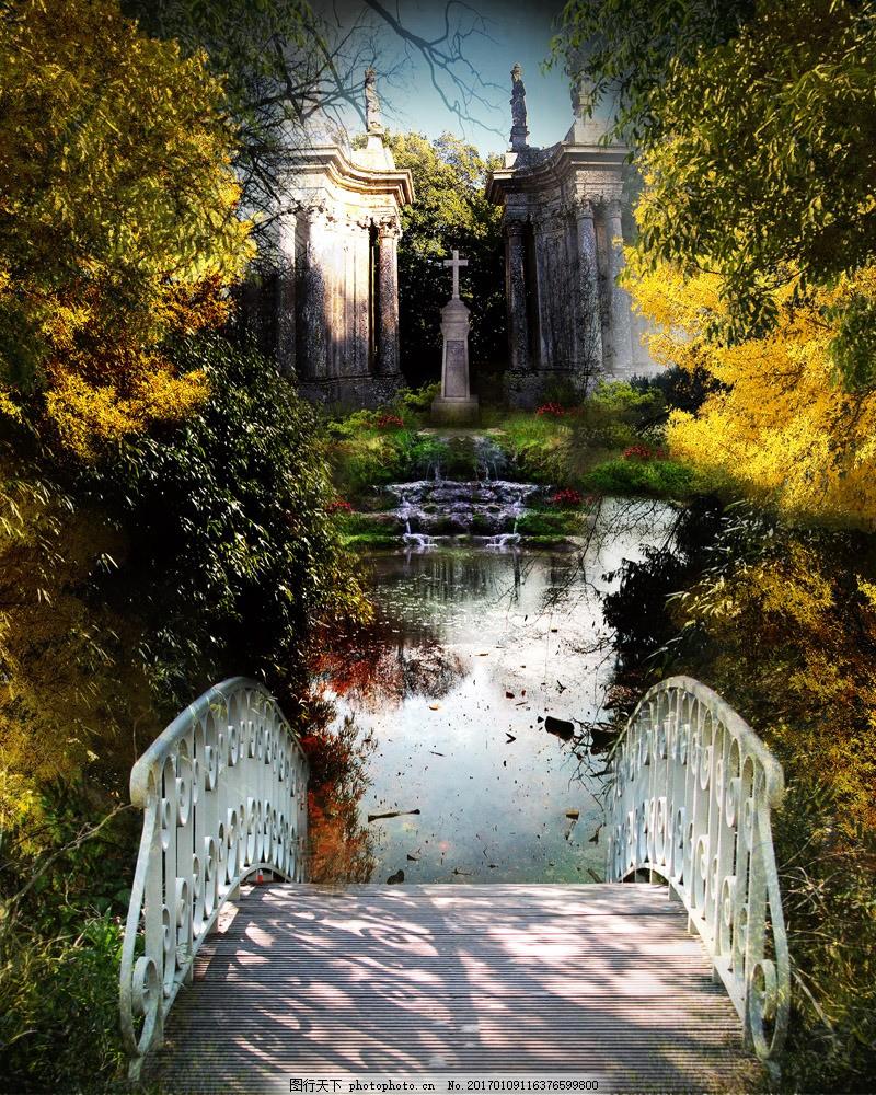 欧式古典园林景观图片