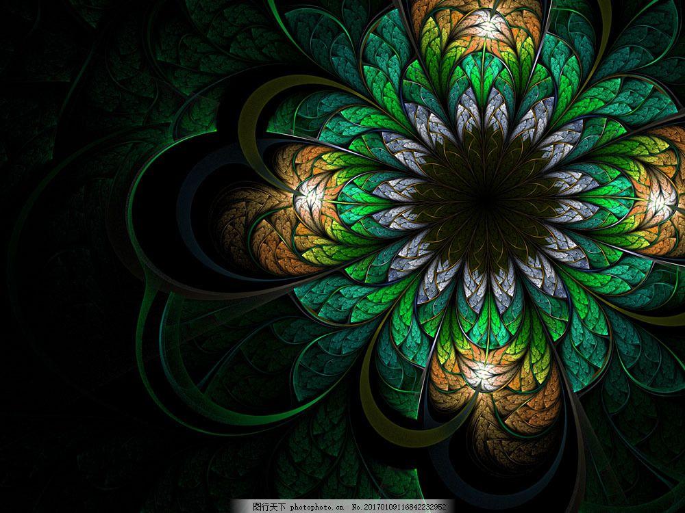 动植物  梦幻花朵背景图片素材 复古风格 古典 传统 背景 欧式 黑暗花