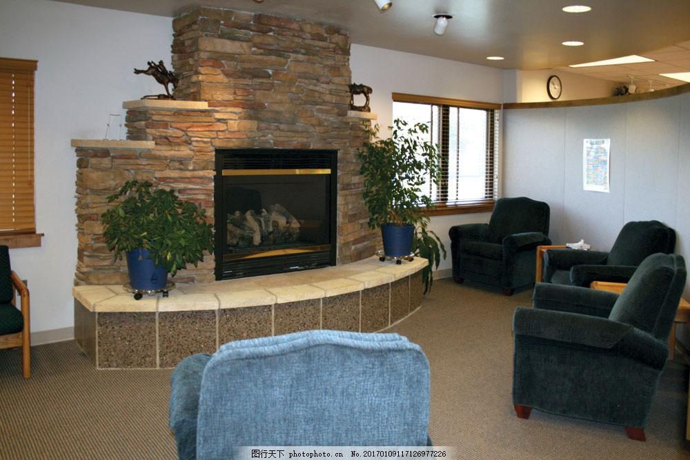 石头墙电视机沙发效果图图片
