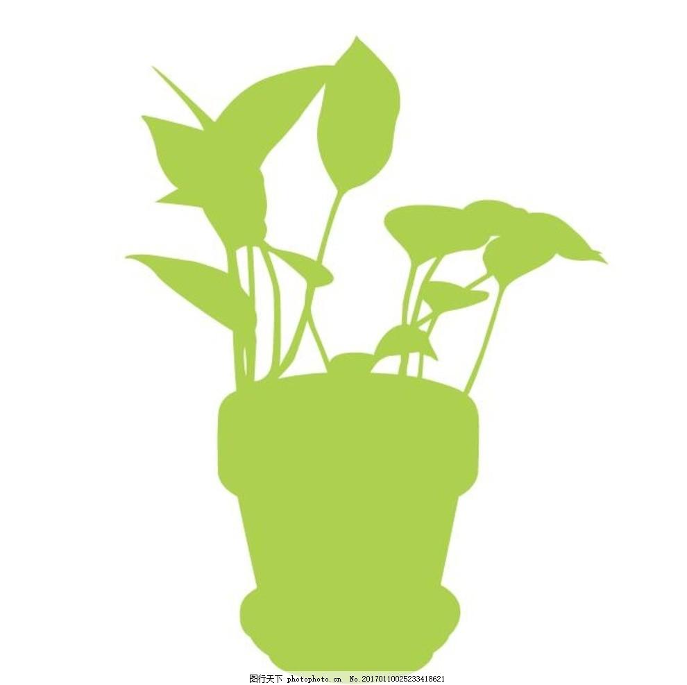绿叶藤蔓手绘简笔画