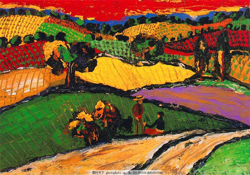 印象派油画图片素材 油画 油画写生 风景油画 风景写生 绘画艺术 装饰