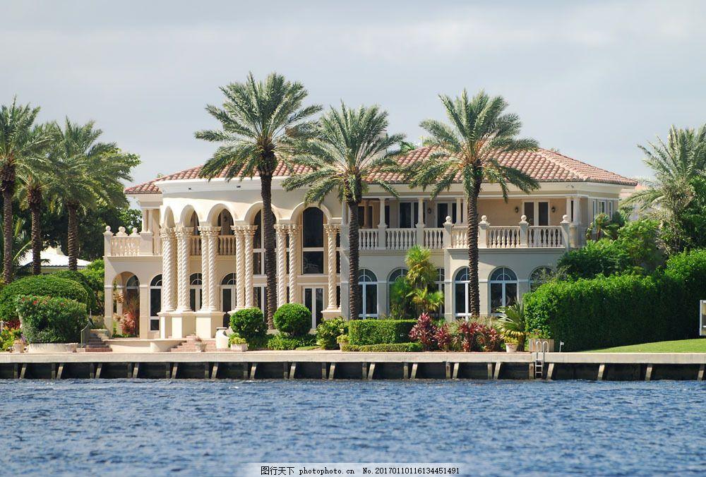 海滨别墅的漂亮景观 海滨别墅的漂亮景观图片素材 城市 海南 三亚