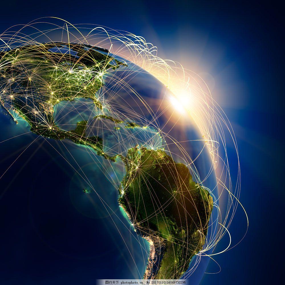 地球 辐射全球 分布图 蓝色地球 地球背景 世界地图 地球图片 环境