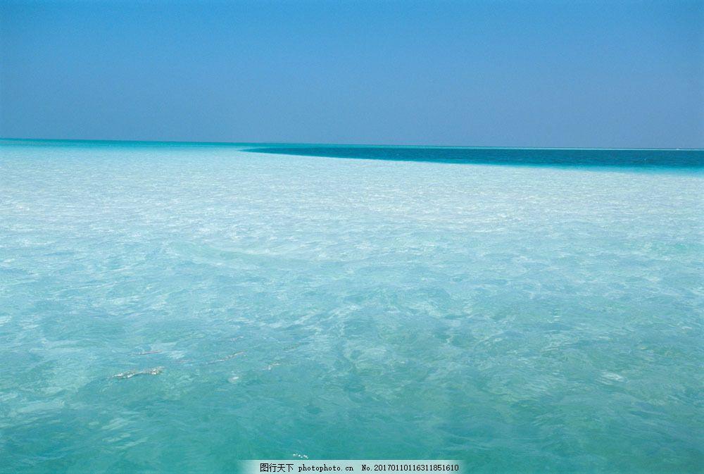jpg图片 图片素材 海滩 高清图片素材 摄影图片 蔚蓝天空 水 海 海水