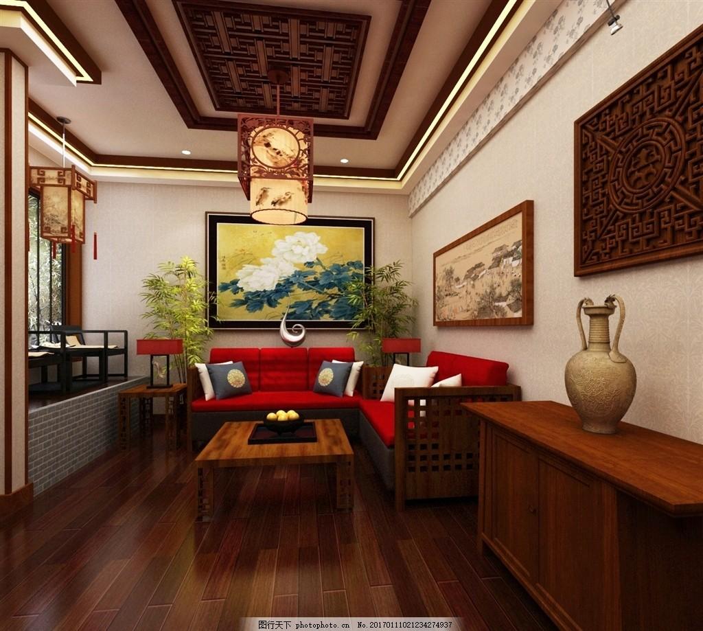 中式餐厅 包房 中式包房 现代中式餐厅 茶楼 3d模型类 设计 3d设计 室