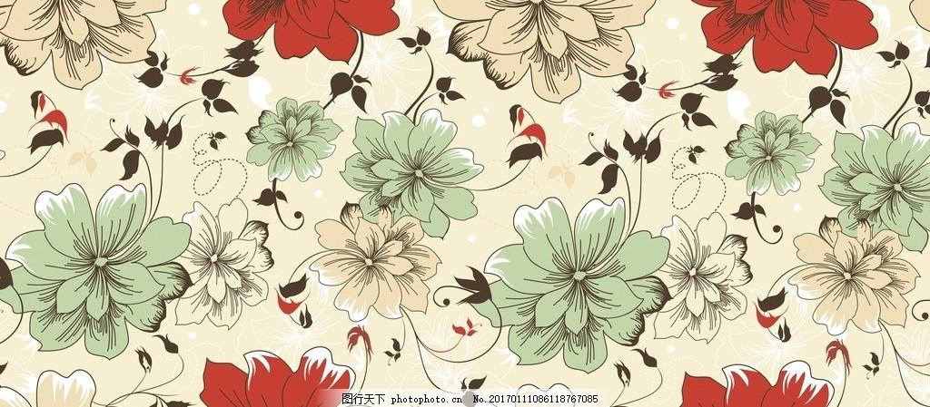 花朵图案 图案 服装图案 印花图案 背景图案 和风 日式 日本图案 花朵