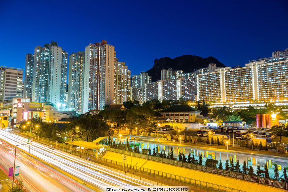 美丽城市街道风景图片素材 美丽城市街道风景图片 城市夜景 城市街道