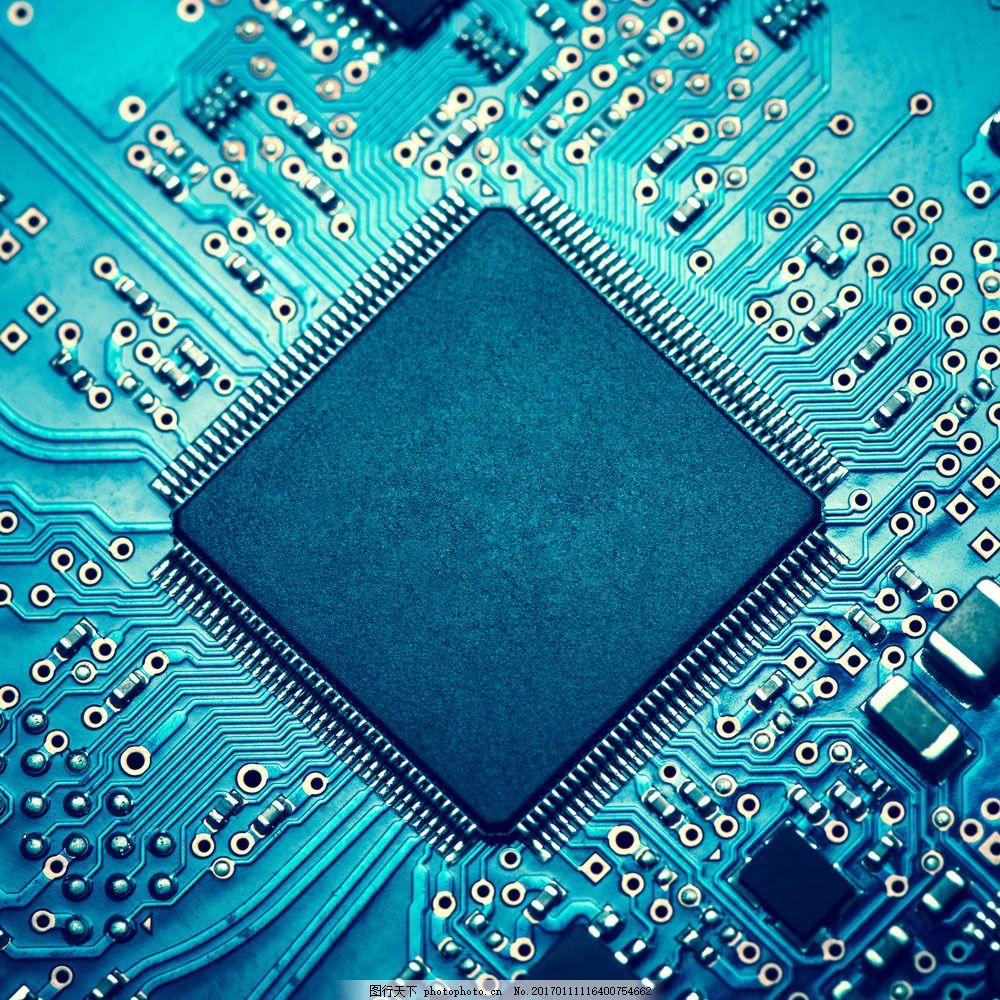 蓝色菱形电子板 蓝色菱形电子板图片素材 集成电路 电路板 电子产品