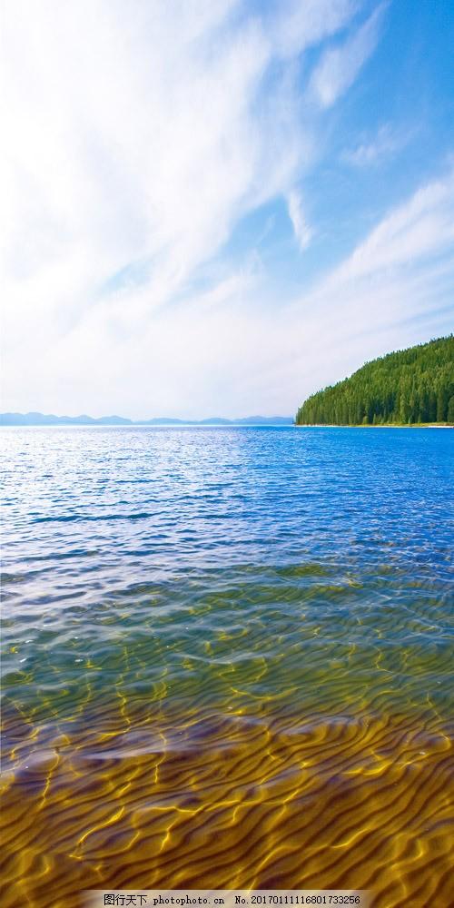美丽湖面风景摄影图片