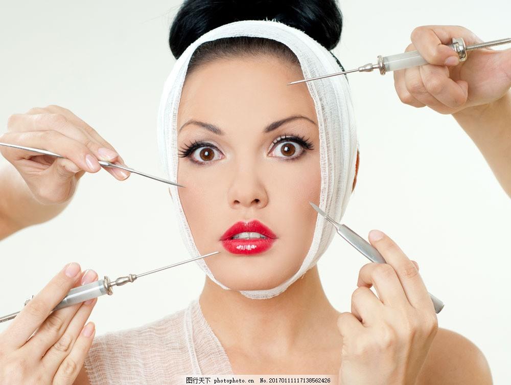 美女面部整形美容图片素材 医疗整形 整形美容 外国女性 美女 面部