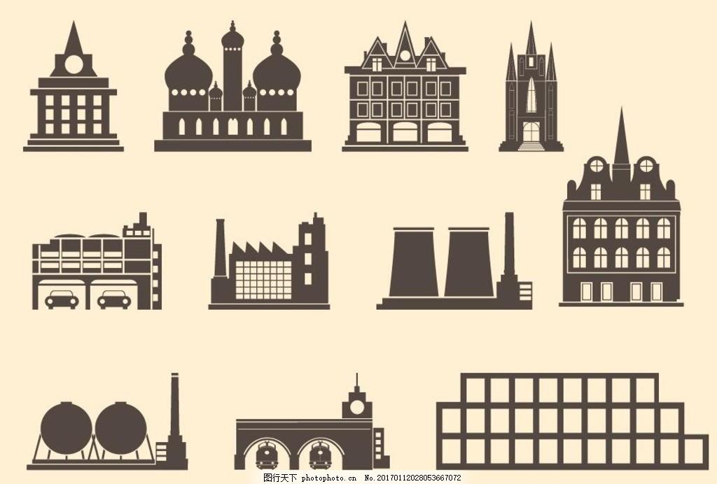 建筑物轮廓图形
