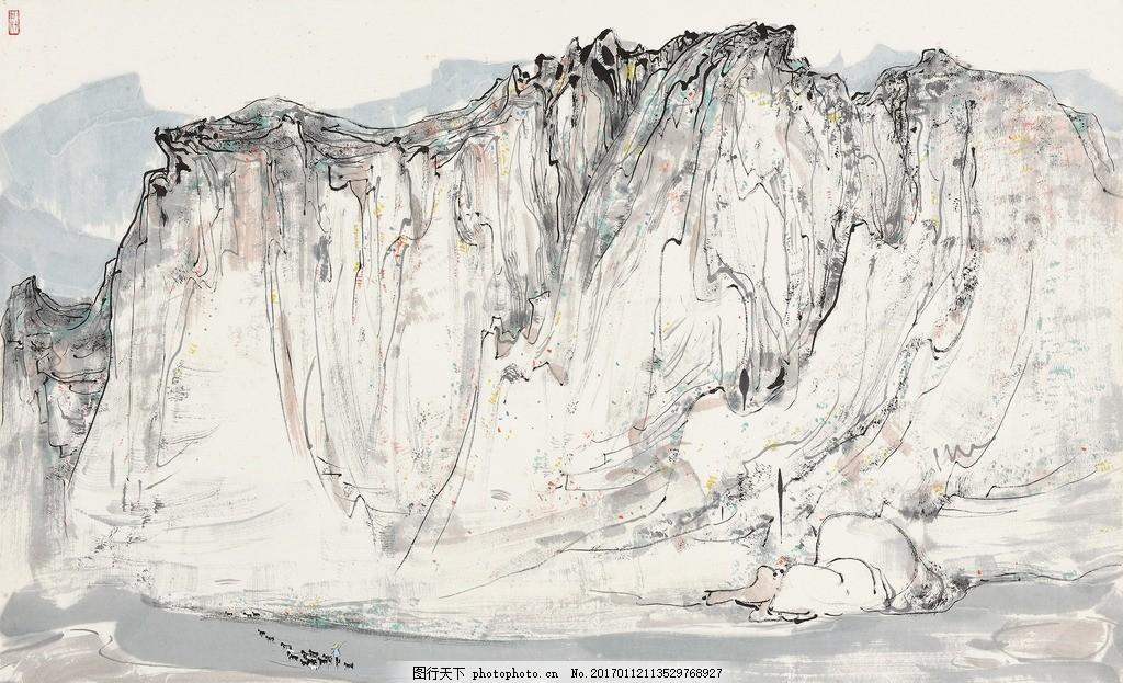 吴冠中国画山水 水墨 写意 文化艺术 绘画书法图片