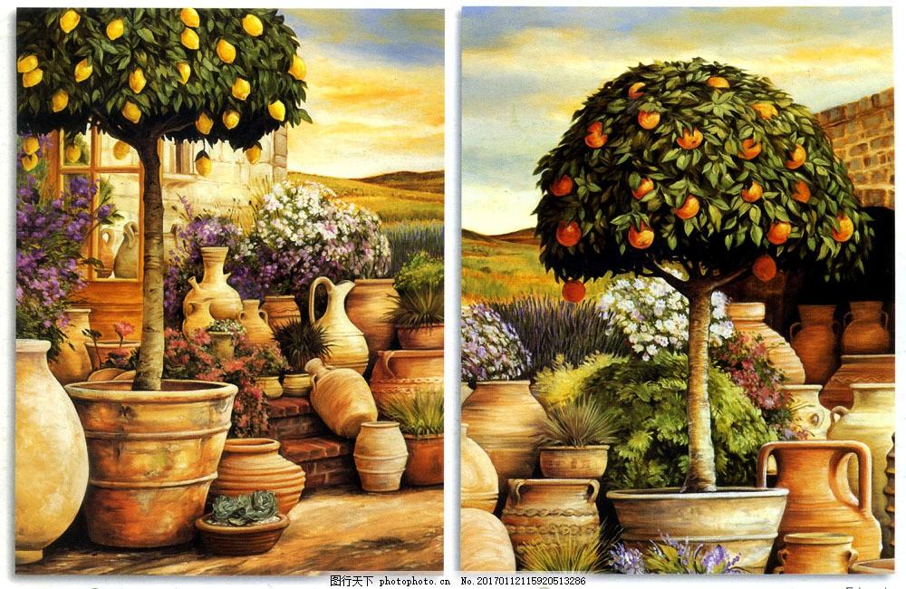 油画果树图片素材 名画 油画 艺术 绘画 文化艺术 艺术品 世界名画