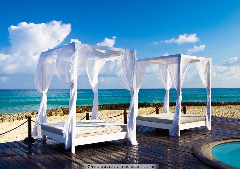 海边休闲场所设计 休闲场所 海边风景 蓝天白云 海边景色 室内设计