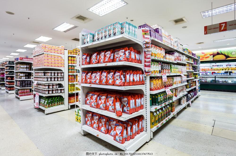超市陈列区域设计图片