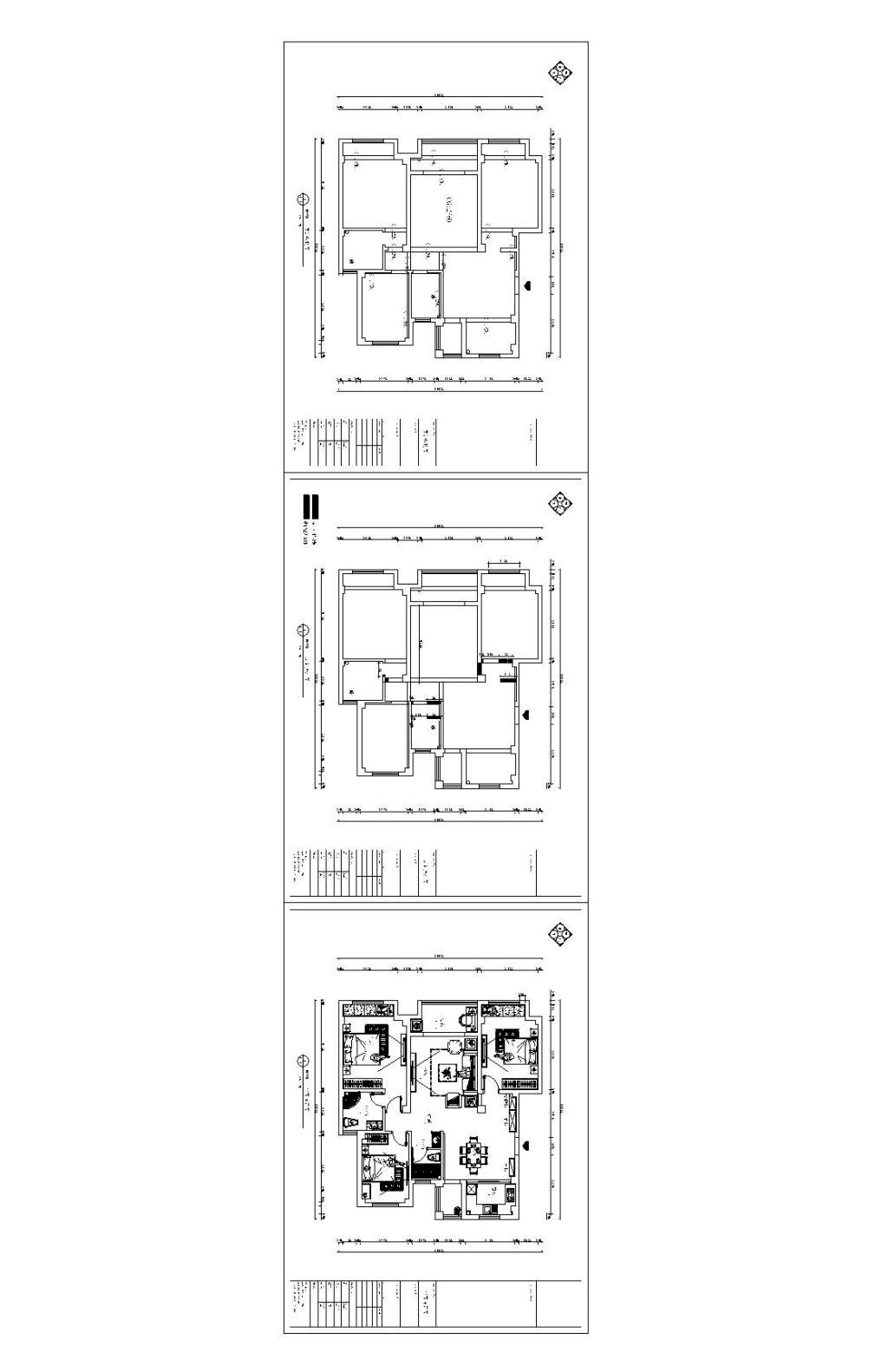 家装设计平面图 室内设计 现代风格平面图