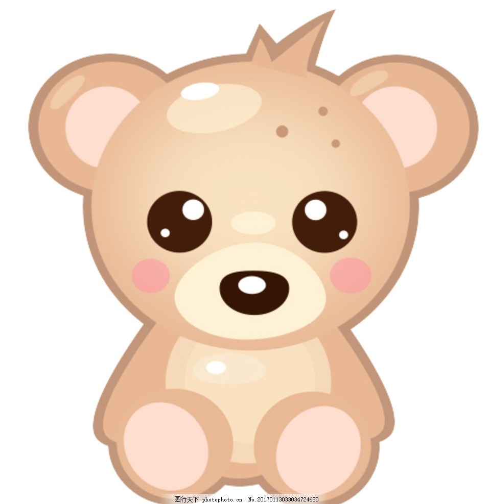 卡通泰迪熊 卡通 泰迪熊 玩具 可爱 psd 源文件 分层素材 设计 psd