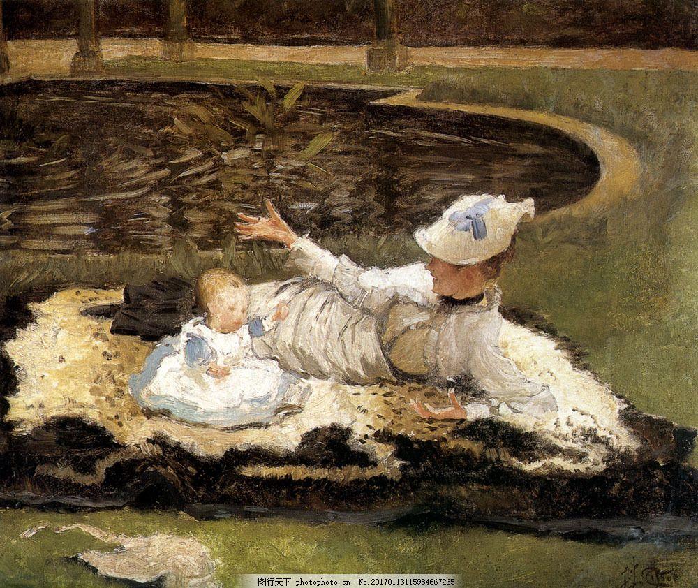 油画 绘画艺术 油画写生 油画人物 小女孩 贵族生活 女人肖像画 人物