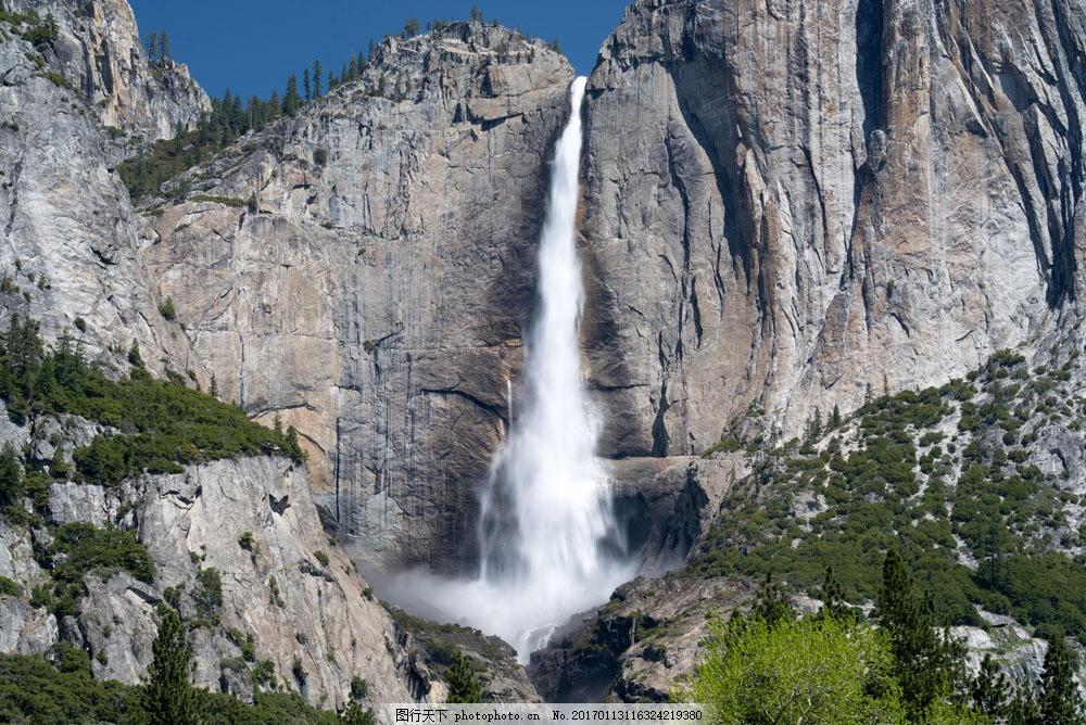 悬崖上的瀑布 悬崖上的瀑布图片素材 峭壁 风景 自然 风景图片