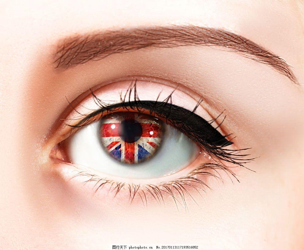 美国国旗眼睛图片