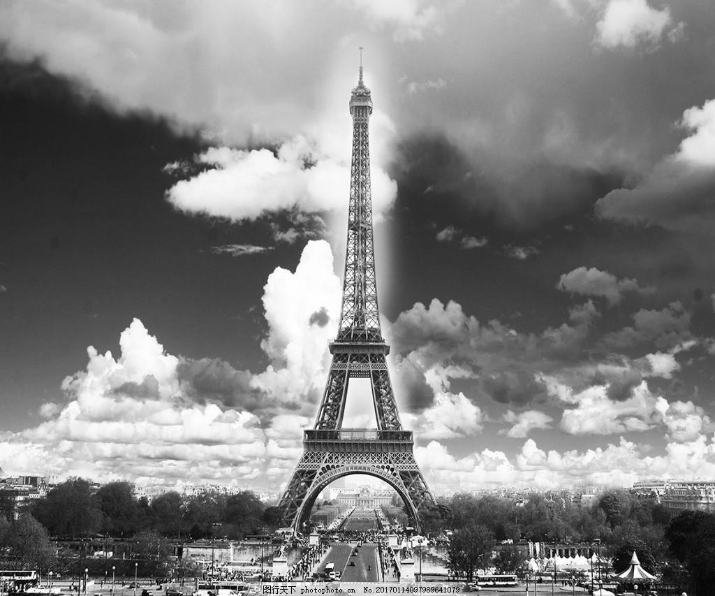 灰色铁塔装饰画,背景 壁纸 风景 高分辨率图片 高清