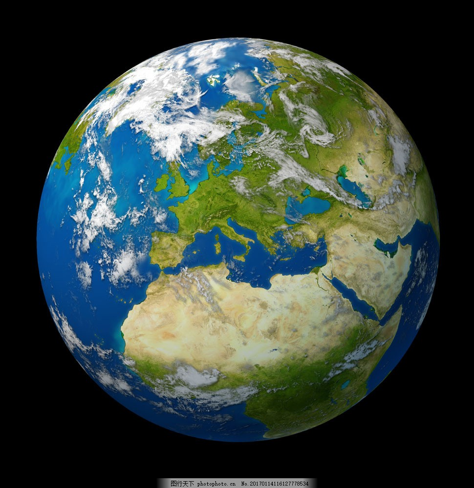绿色地球 绿色地球图片素材 球体 绿色环保 保护地球 宇宙太空