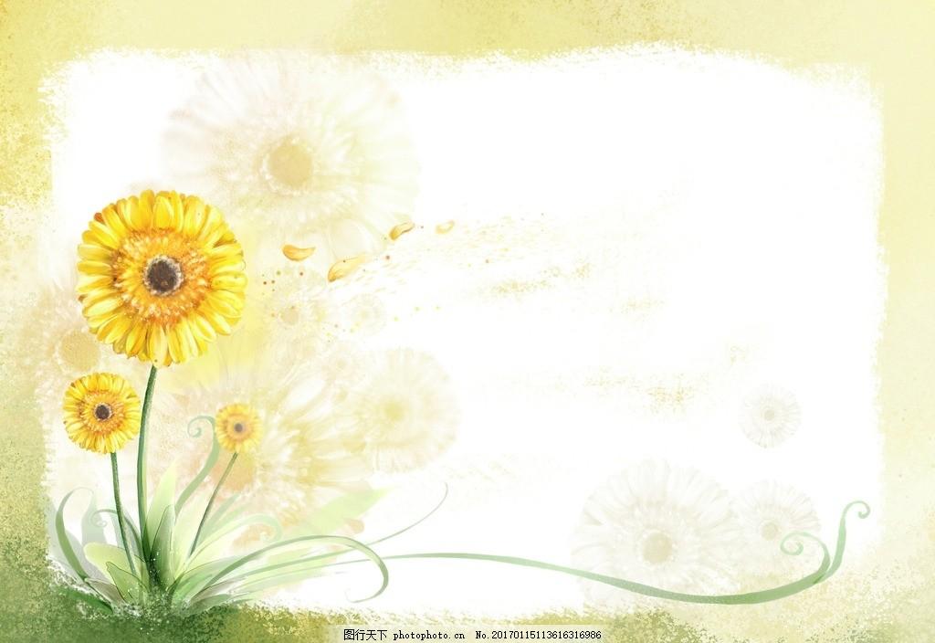 卡通花朵边框素材
