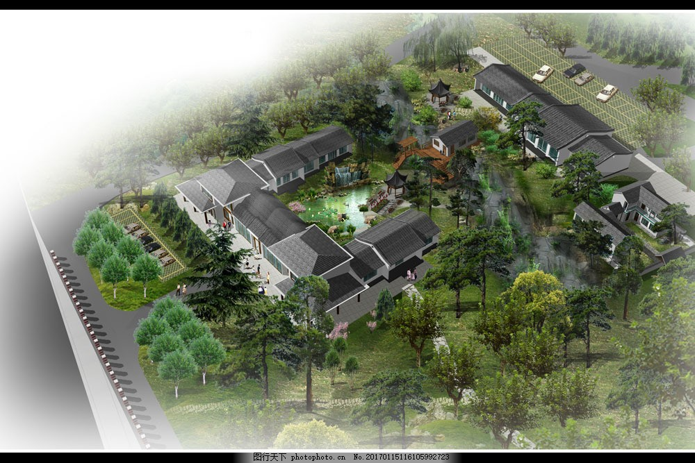 古典园林 古典建筑 景观设计 园艺设计 房地产设计 建筑设计3d效果图