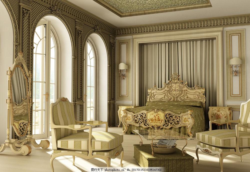 复古欧式装修图片素材 室内家居 室内装饰 室内装修 豪华 时尚家居