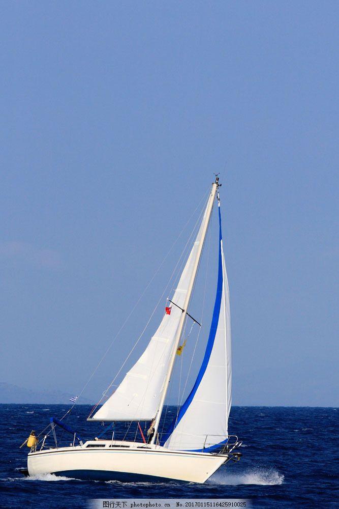 蓝色海洋帆船图片素材 帆船 船舶 扬帆起航 船只 轮船 航行 航海 大海