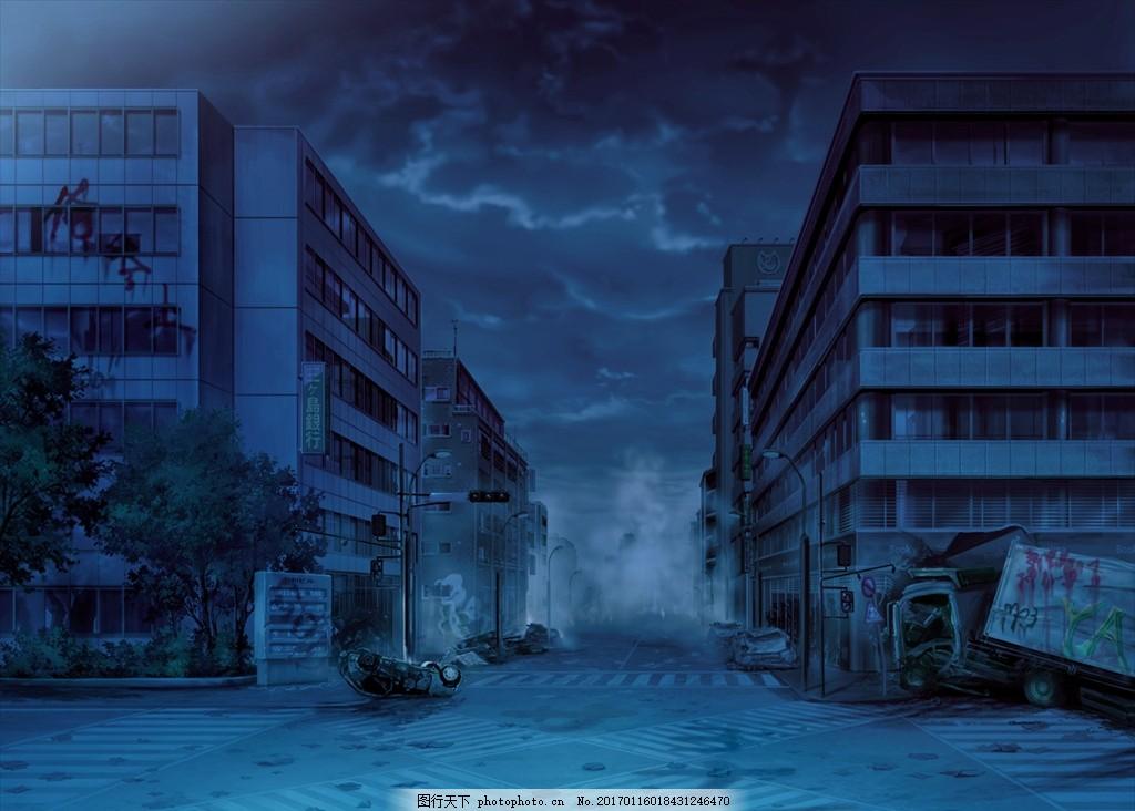 动漫动画场景图 效果图 二次元 天空 云彩 青春 校园 爱情 友谊