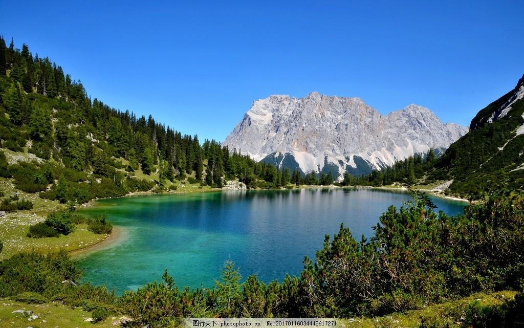 唯美景色 全景照片 高山 森林 自然美景 湖水 旅游 度假 美丽风景