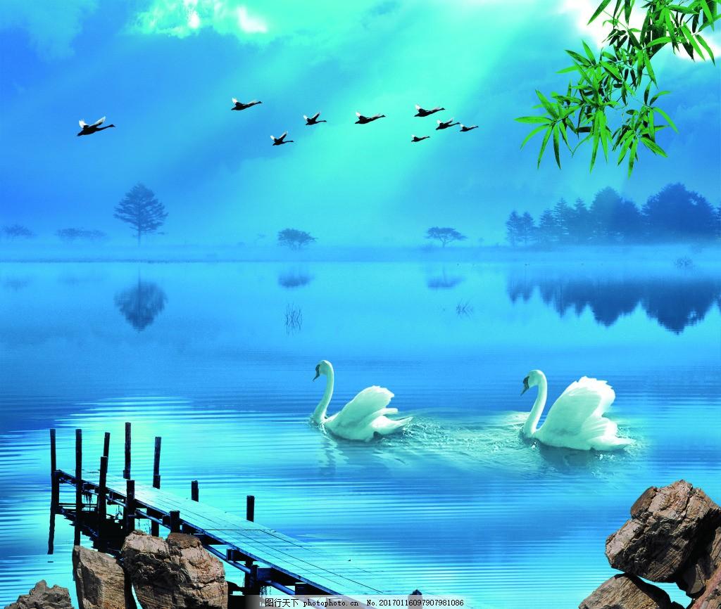 青色背景元素背景墙 壁纸 风景 高分辨率图片 高清大图 建筑 装饰