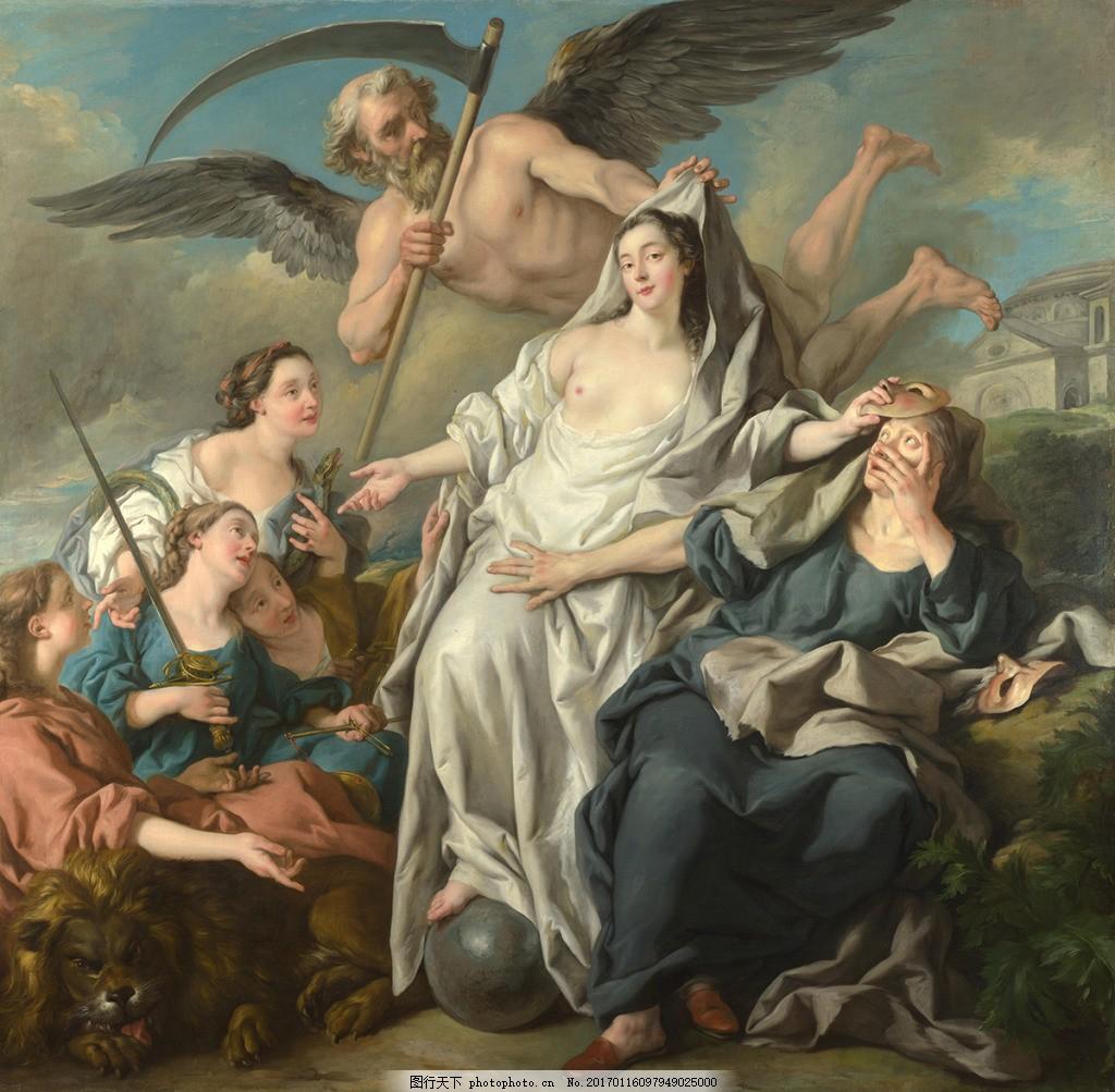 欧式人物天使装饰背景墙