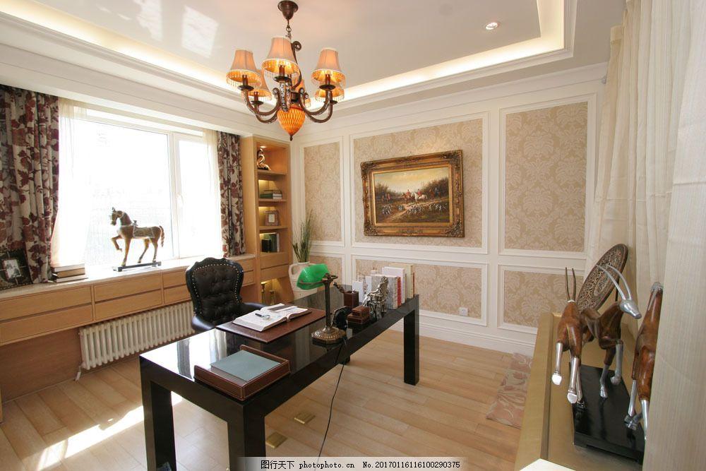 欧式风格办公室装修效果图图片素材 室内设计 室内装潢设计 室内设计