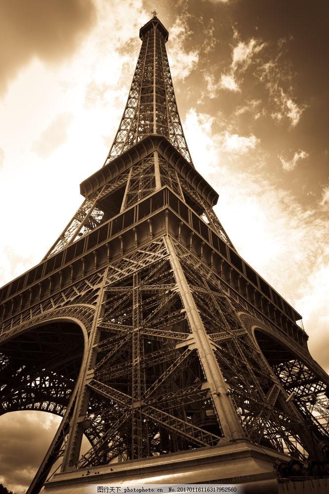 艾菲尔铁塔 艾菲尔铁塔图片素材 法国标志 巴黎 风景名胜 风景图片