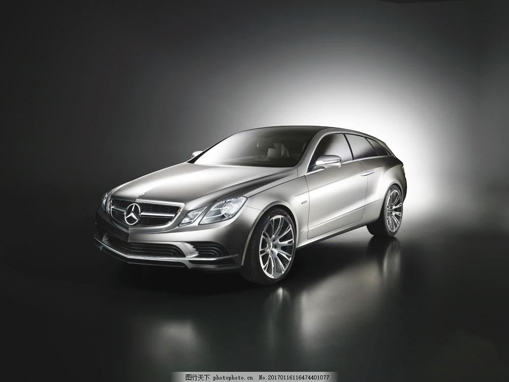 银色奔驰汽车图片