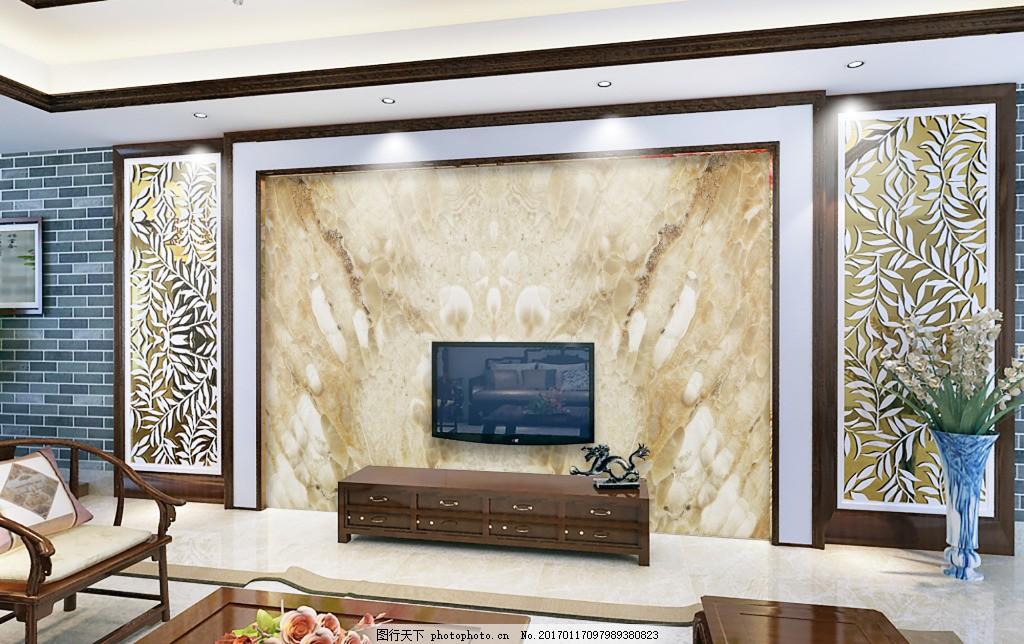 大理石背景墙设计素材 大理石电视背景墙设计 欧式背景墙设计素材