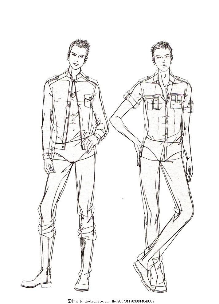 ps时装画 服装 时装 时装插画 人体模特 人体线稿 服装设计模板 人体