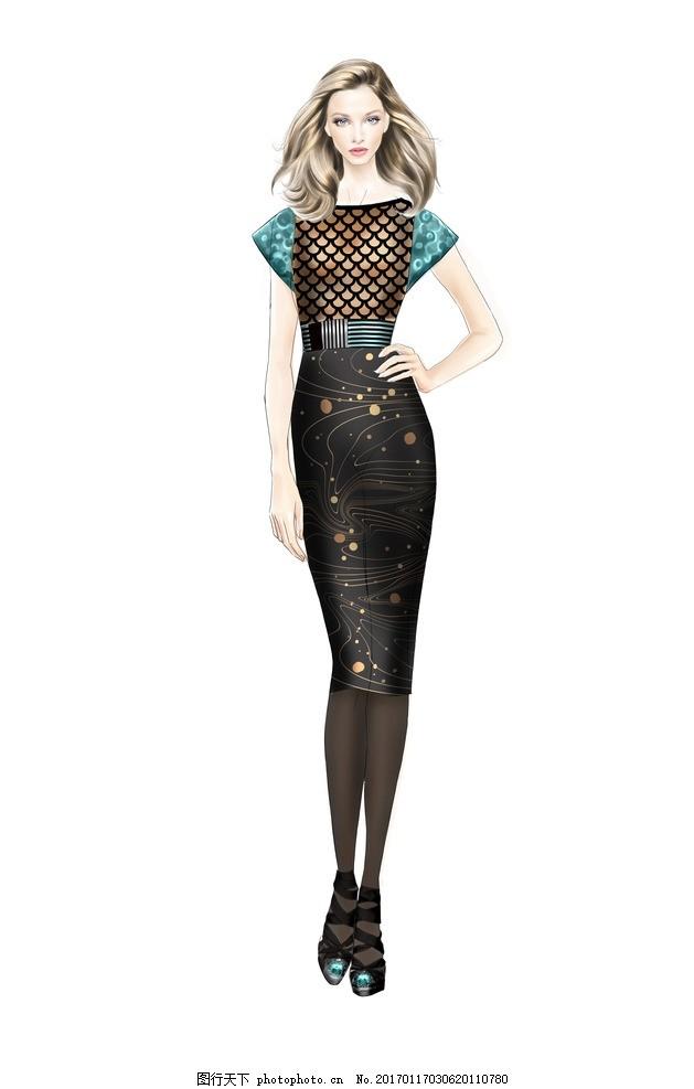 时装画 时装效果图 服装画 电脑时装画 电脑服装画 时装插画 人体模特