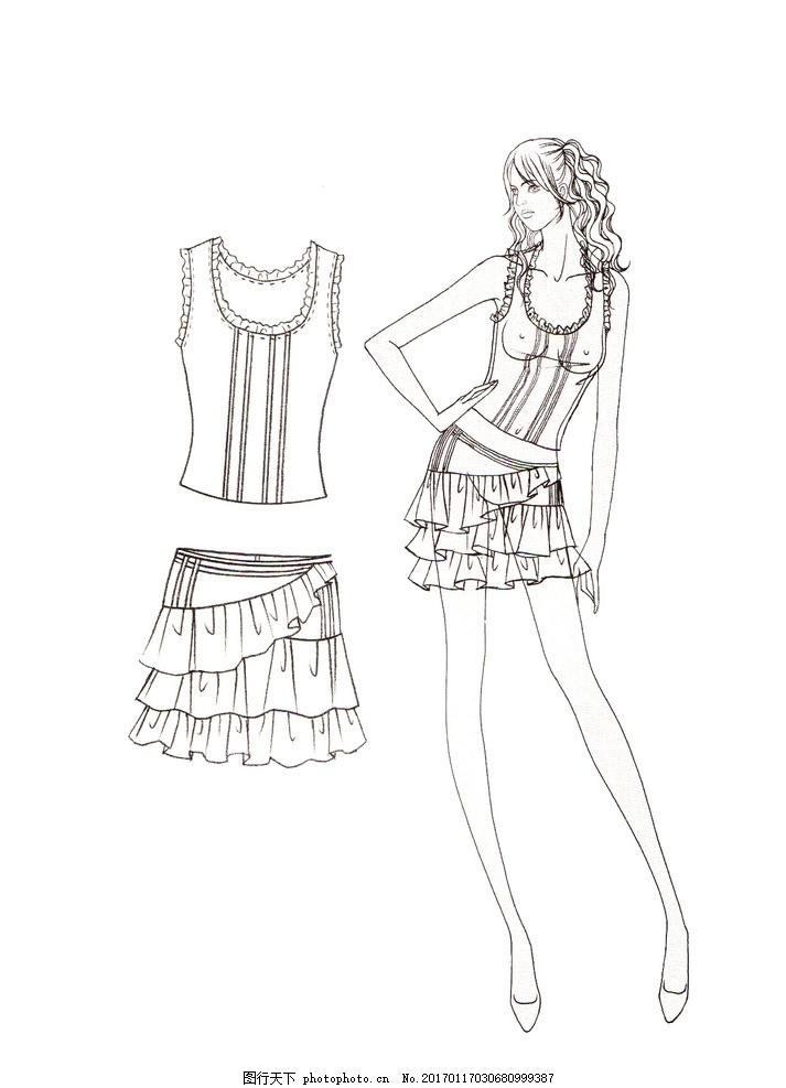 服装设计 时装画 时装效果图 服装画 电脑时装画 电脑服装画 时装插画