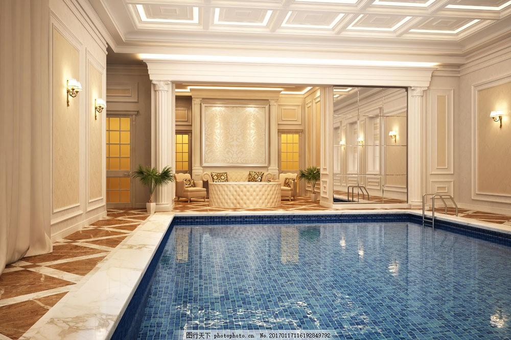 室内游泳池装饰设计 室内游泳池装饰设计图片素材 欧式装饰设计 室内