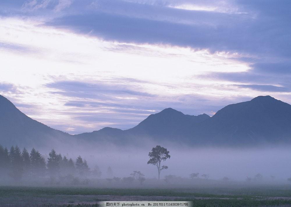 山峰平原风景图片素材 四季风景 美丽风景 春天风景 山峰 平原 高原