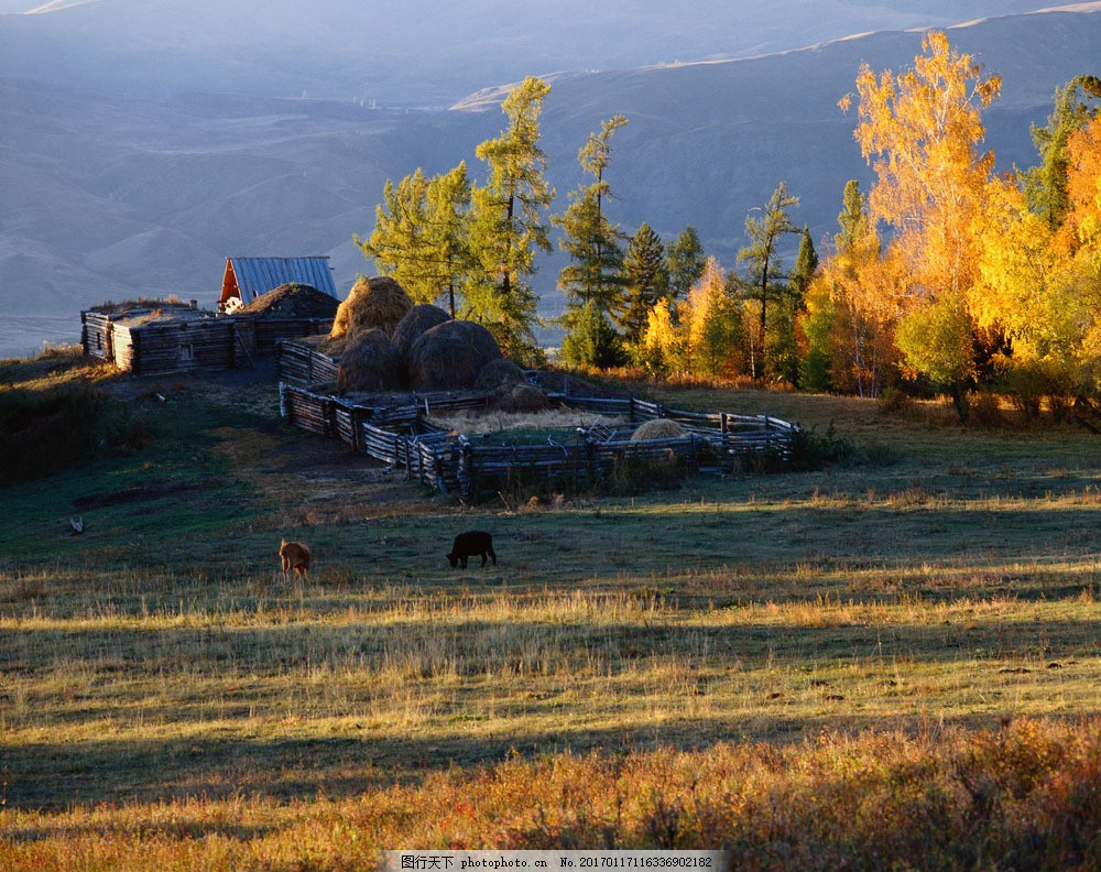 设计图库 高清素材 自然风景  山村风景摄影图片素材 大自然 自然风景