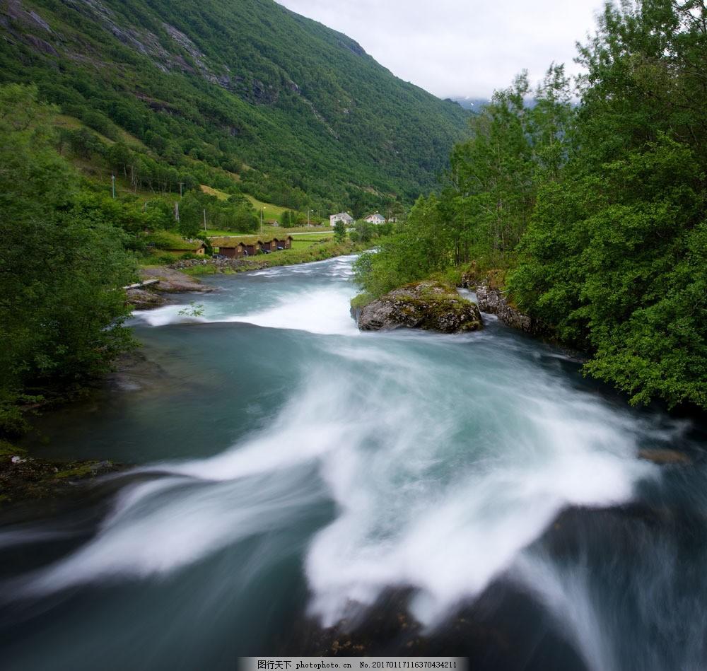 美丽河流风景摄影图片