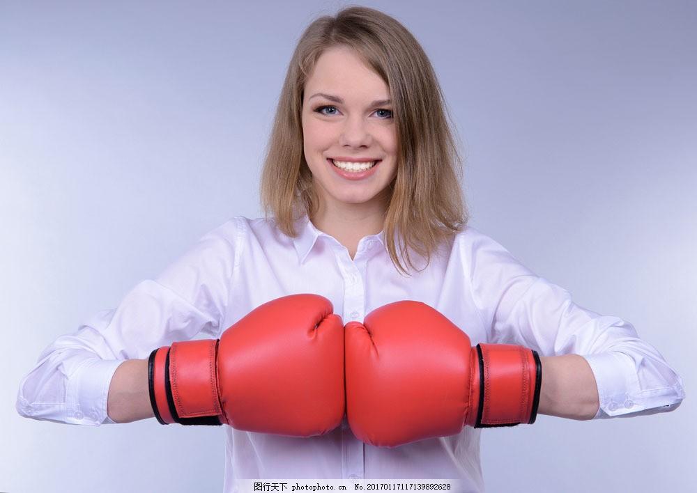 时尚健身美女 时尚健身美女图片素材 拳击 拳手 拳套 运动 美容健身