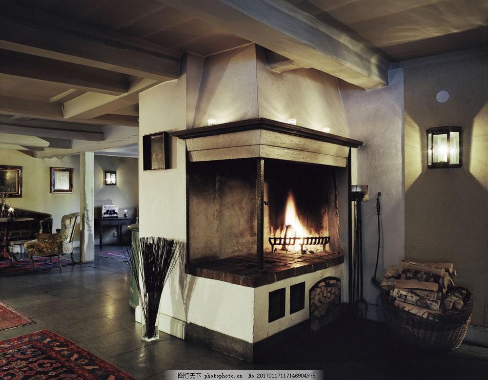 豪华壁炉效果图 豪华壁炉效果图图片素材 欧式家具 时尚家具 家居