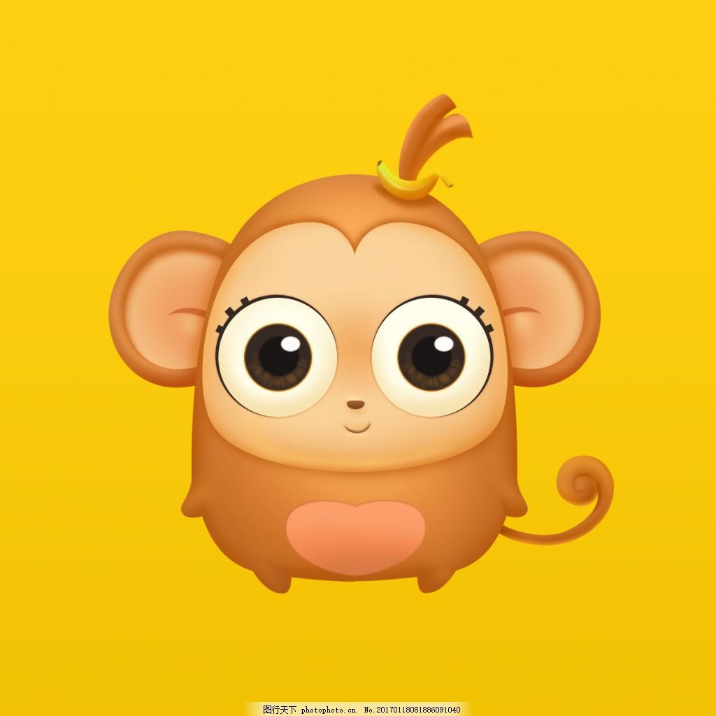 猴子 q版 q版卡通 界面 卡通素材 游戏素材 游戏ui psd素材 原创设计
